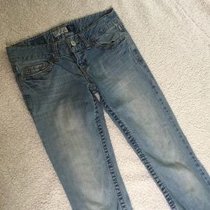 Aeropostale Long Hailey Skinny Flare Jeans